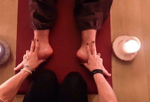 Sanftes Vinyasa + Thai Yoga zu zweit – Anja